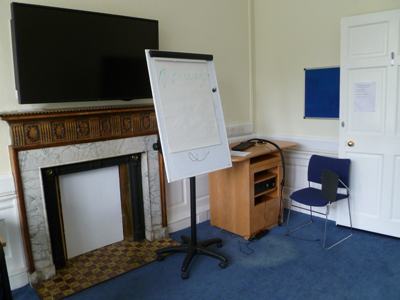 Room G.01 is a tutorial room located on the ground floor of 21 George Square
