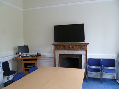 Room G.02 is a tutorial room located on the ground floor of 21 George Square