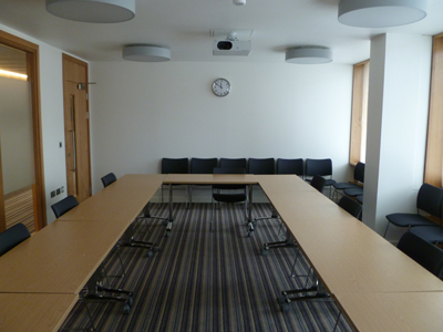 3.03 is a Tutorial room located on the second floor of 50 George Square.