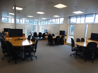Room 4325B is a teaching studio located on the fourth floor of the James Clerk Maxwell Building, accessed via Gateway 4 from Mayfield Road.