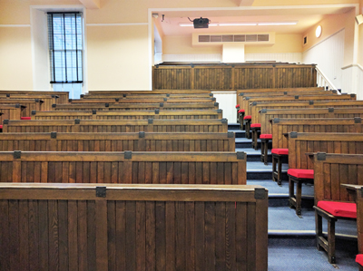 Room LG.34 is a lecture theatre located on the lower ground floor of Paterson's Land.