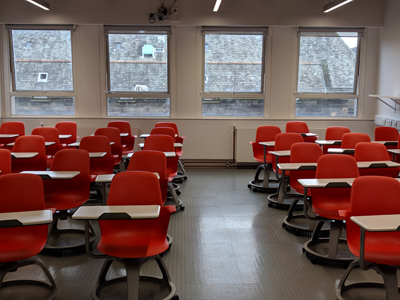 2.3 is a Tutorial Room located on the 2nd level of Lister Learning and Teaching Centre