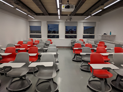 3.3 is a Tutorial Room located on the 3rd level of Lister Learning and Teaching Centre