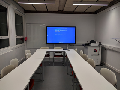 3.4 is a Tutorial Room located on the 3rd level of Lister Learning and Teaching Centre